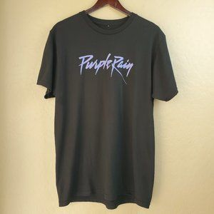 Prince Purple Rain Short Sleeve Black Graphic Tee